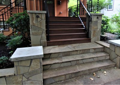 Stone stairs entryway