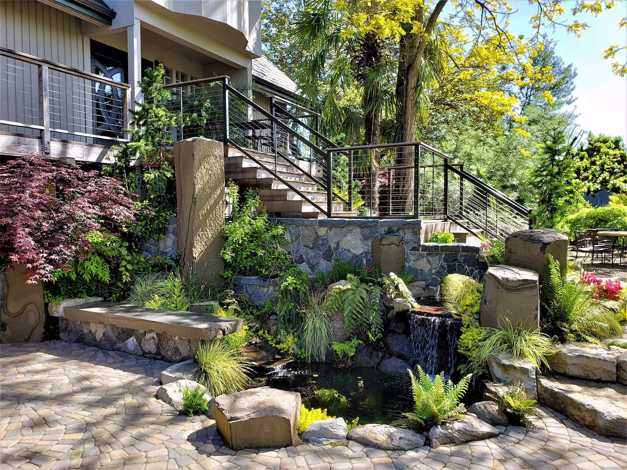 Cobblestone water features